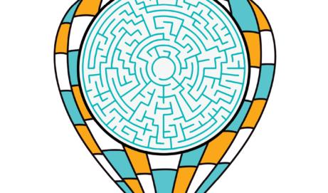 Hot air balloon maze for kids
