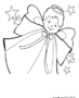 Little boy angel with stars