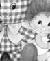 Plaid Easter bunny & little girl