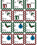 Christmas gift tags: ruffled & colored