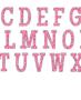 Pink polka dot alphabet