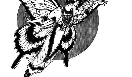 Vintage woman – fairy butterfly