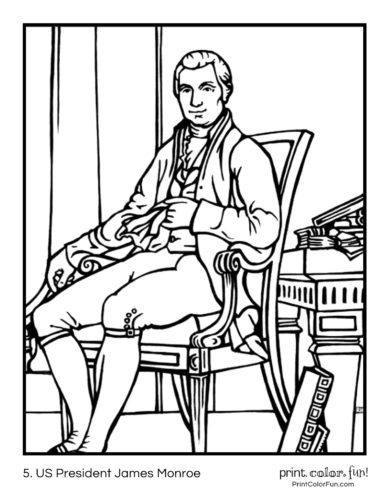 05. US President James Monroe