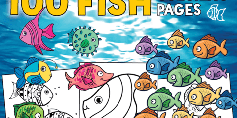 100 free fish coloring pages