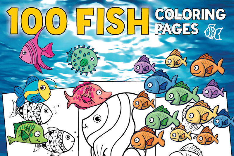 Top 100 Fish Coloring Pages Cute Free Printables Print Color Fun
