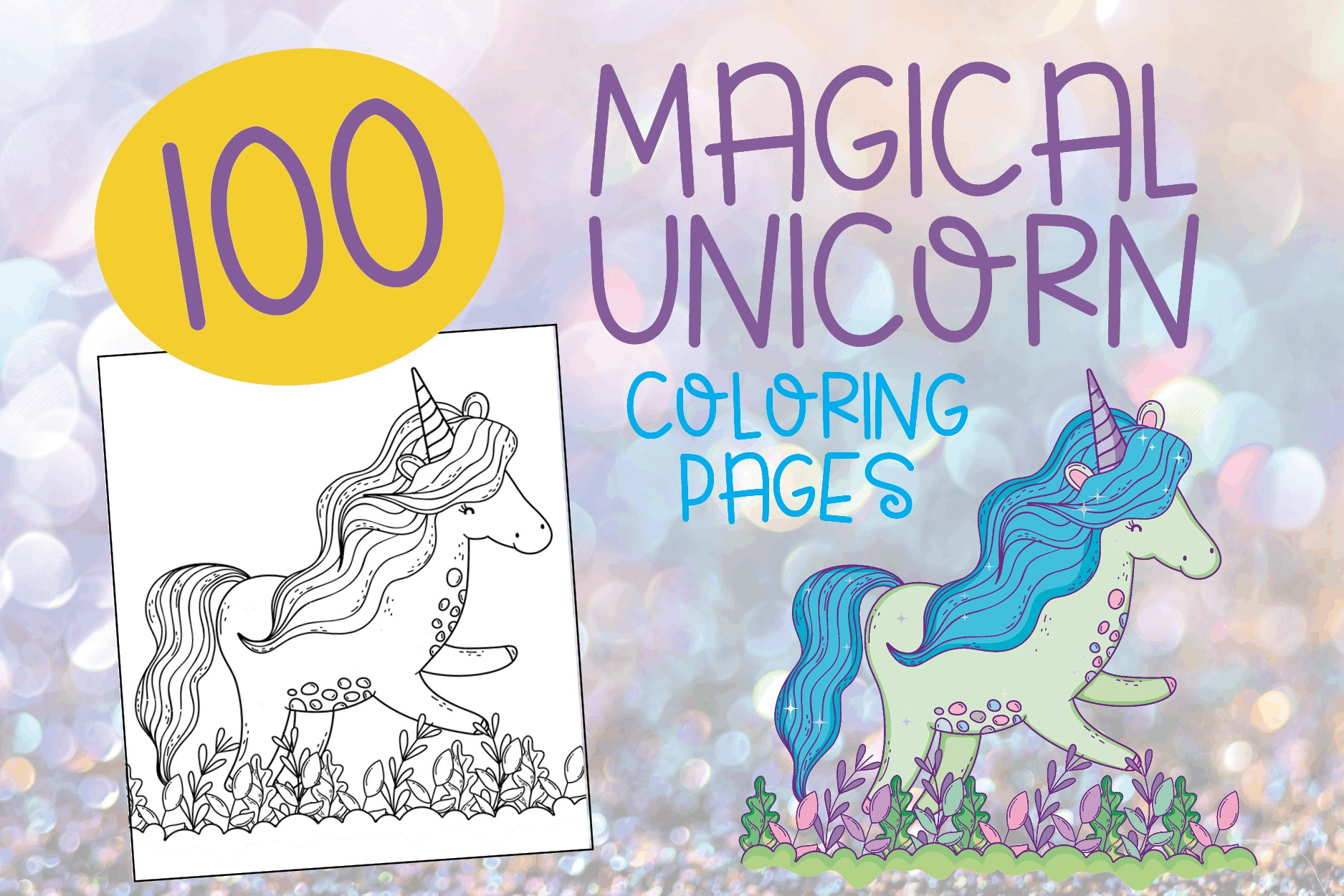 100 free printable unicorn coloring pages