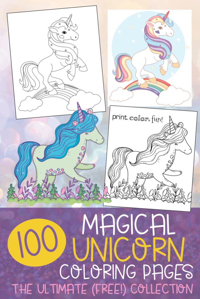 photograph relating to Printable Book Pages identified as Ultimate 100 magical unicorn coloring web pages: The best (totally free