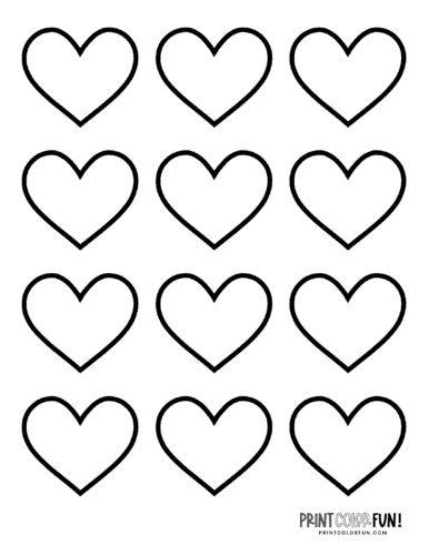 12 wide blank heart shape coloring pages