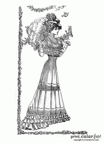 1907 spring woman