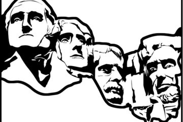 2 Mount Rushmore coloring pages