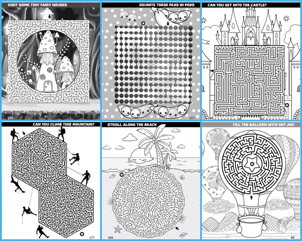 200 Amazing Mazes for Kids - Sample pages (1)