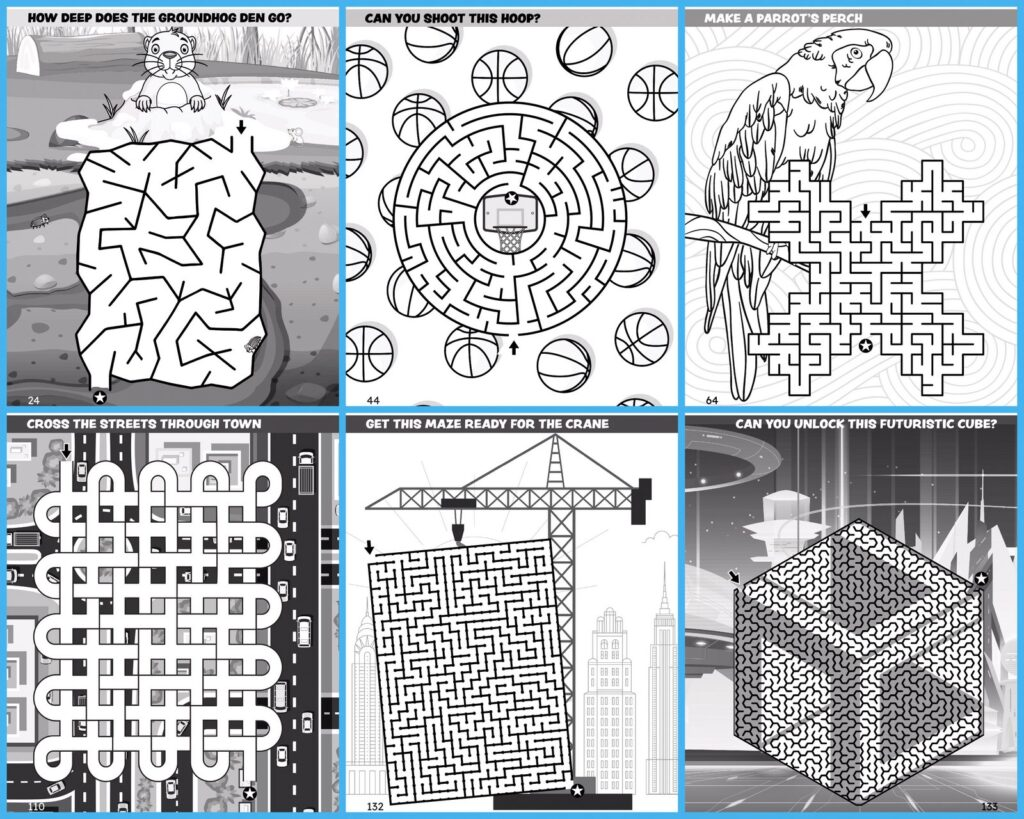 200 Amazing Mazes for Kids - Sample pages (2)