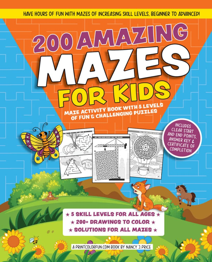 200 Amazing Mazes for Kids book cover