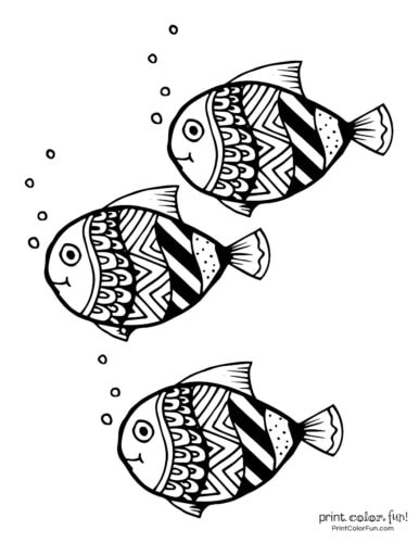 3 cute fish coloring printable from PrintColorFun com (12)