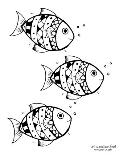 3 cute fish coloring printable from PrintColorFun com (13)