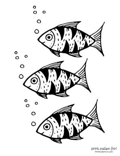 3 cute fish coloring printable from PrintColorFun com (15)