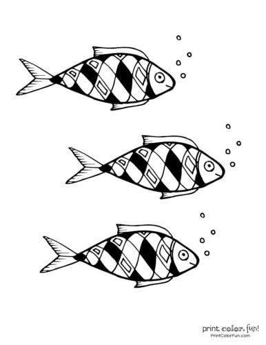 3 cute fish coloring printable from PrintColorFun com (16)