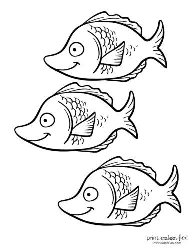 3 cute fish coloring printable from PrintColorFun com (17)