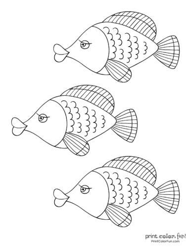 3 cute fish coloring printable from PrintColorFun com (2)
