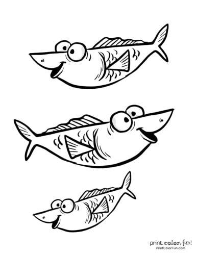 3 cute fish coloring printable from PrintColorFun com (4)