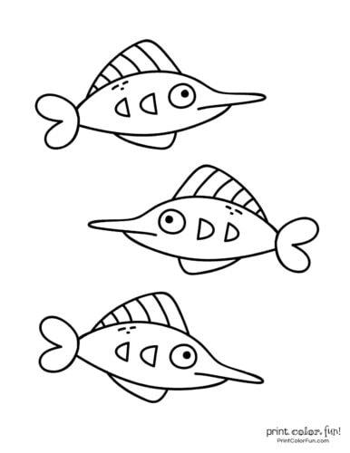 3 cute fish coloring printable from PrintColorFun com (5)