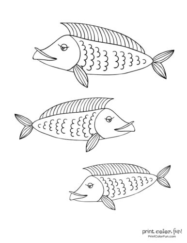 3 cute fish coloring printable from PrintColorFun com (6)