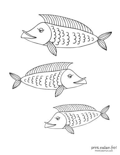 3 cute fish coloring printable from PrintColorFun com (6)