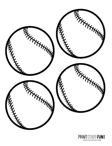 Baseball Gear Coloring Pages Balls Bats Mitts Hats Print Color Fun