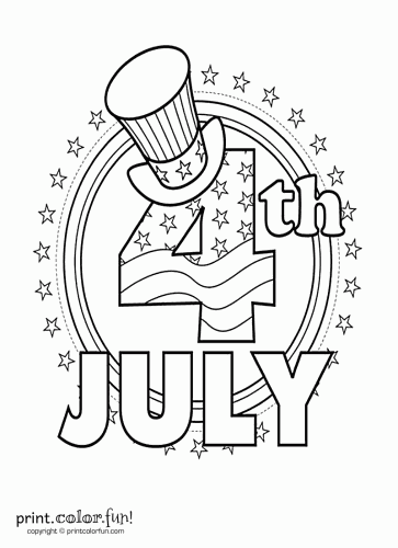 Fourth of July coloring page  Print Color Fun