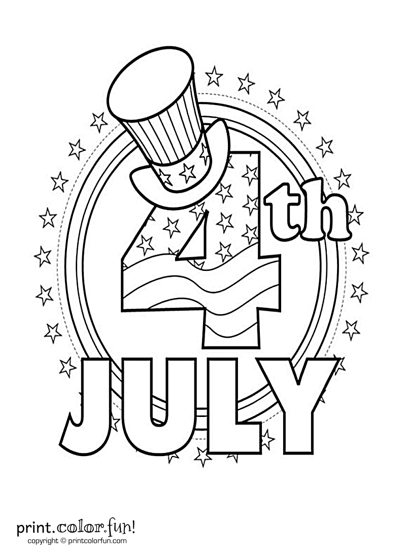 Fourth of july coloring page print color fun for 4 of july coloring pages
