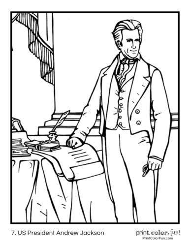 7. US President Andrew Jackson