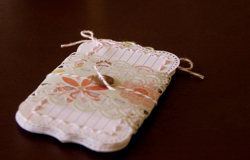 A pack of journaling cards