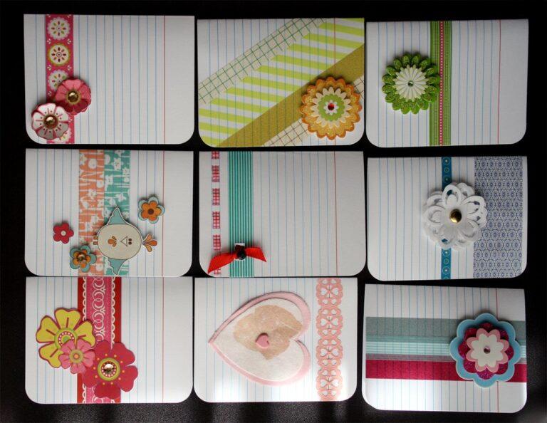 Adorable index card crafts