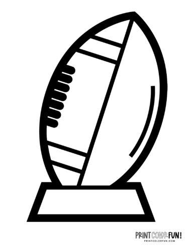 American football printable