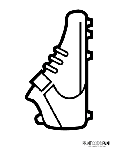 American football shoes - Coloring page