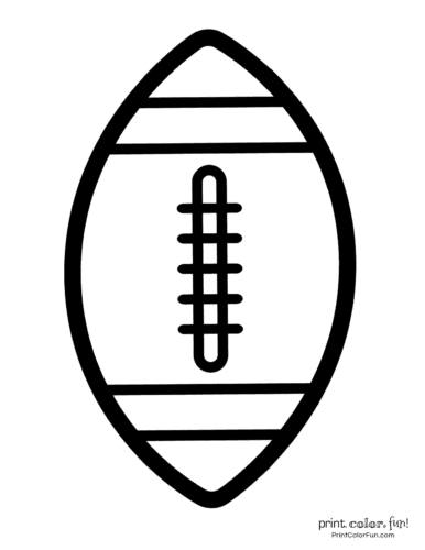 American footballs to color - Sports printables (1)