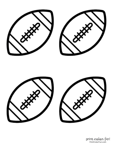 American footballs to color - Sports printables (3)