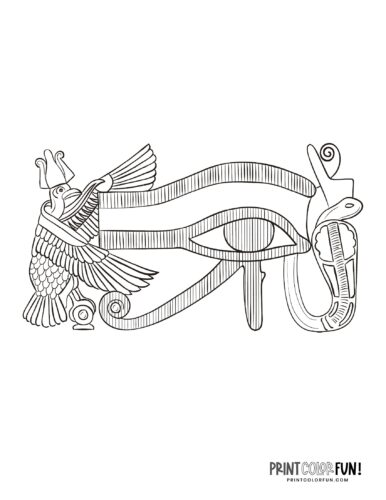 Ancient Egyptian Eye of Horus coloring page