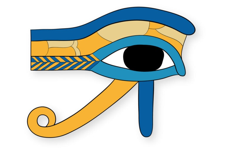 Ancient Egyptian Eye of Horus coloring pages