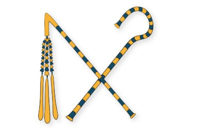 Ancient Egyptian crook and flail coloring page