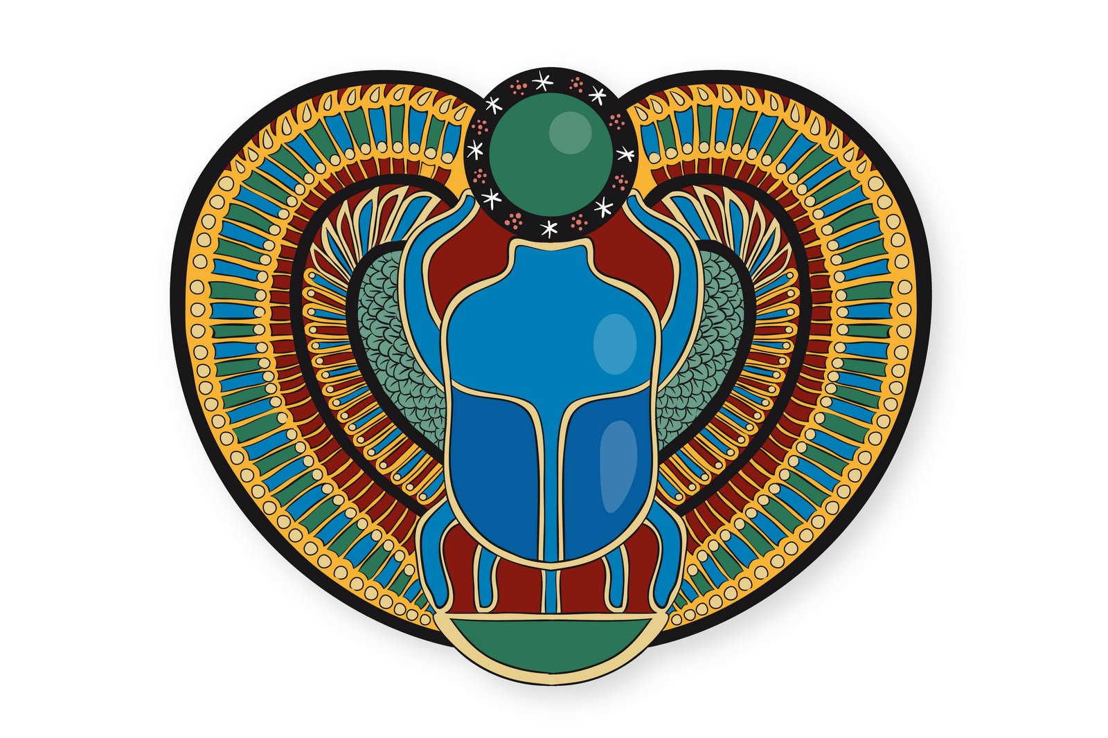 Ancient Egyptian scarab beetle coloring pages