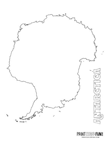 Antarctica map coloring pages and printables (4)