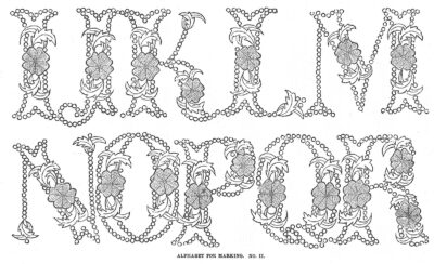 Antique lettering - typeface - font from 1869 (3)