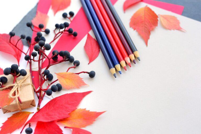Autumn leaf craft creativity