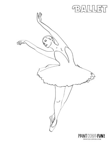 Ballet dancers - Ballerina coloring page