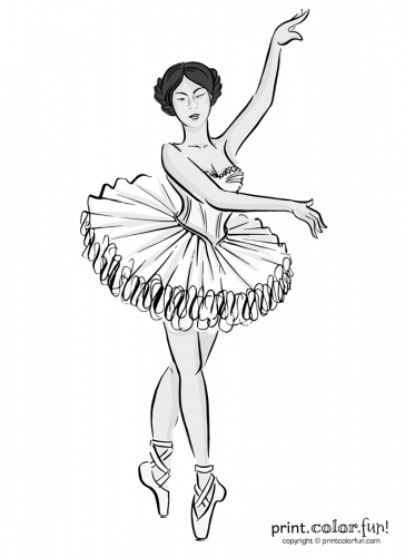 Ballet dancer in a tutu