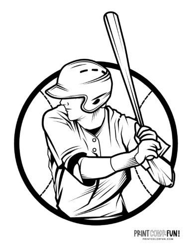 Baseball batter coloring page