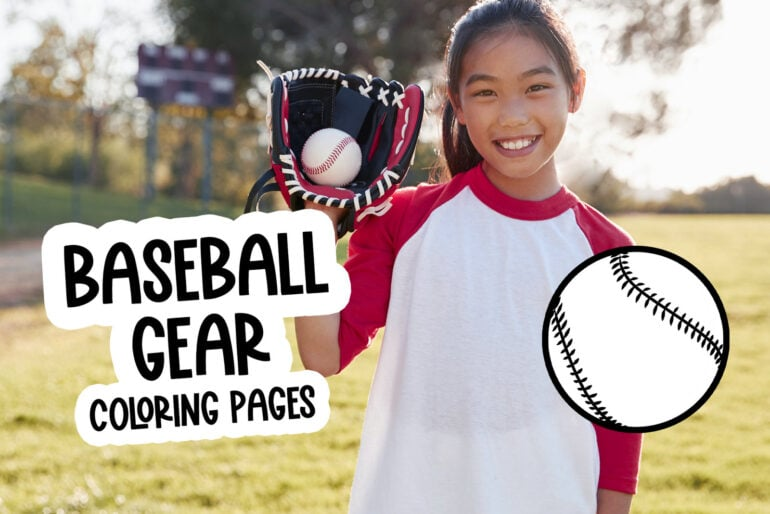 Baseball gear coloring pages