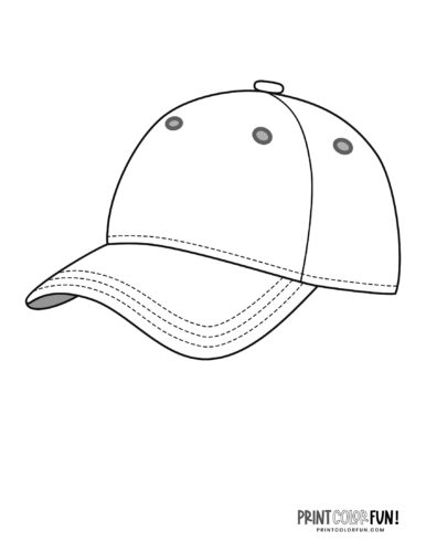 Baseball hat coloring page (1)