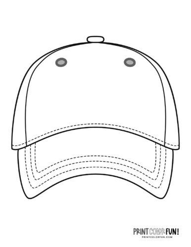 Baseball hat coloring page (2)